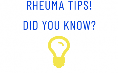 Rheuma Tips! Did you know? #7