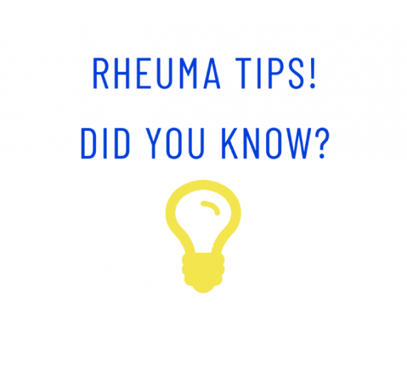 Rheuma Tips! Did you know? #3