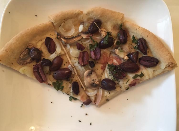 Two-Way Veggie Pizza [Gluten-free, Vegan]